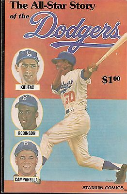 "1979 ""The All-Star Story of the Dodgers"" Comic Book - Koufax Campy Jackie Wills"