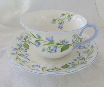 Shelley Harebell Teacup and Saucer, Harebell Cup and Saucer, Vintage Shelley
