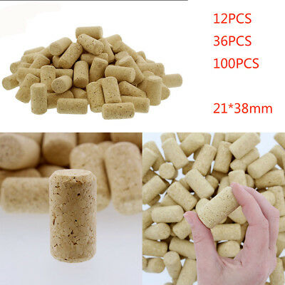 High Quality 12/36100Pcs Conical Natural Cork Bottle Stoppers Wine Corks Crafts