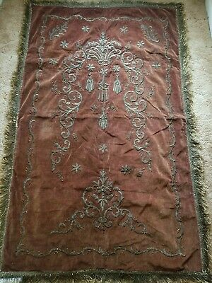 Early 19th Century Ottoman-Turkish, Silver & Gold Thread Hand Embroidered Bohca