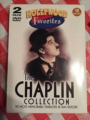 The Charlie Chaplin Collection 2 DVD Hollywood Favorites -- Like New