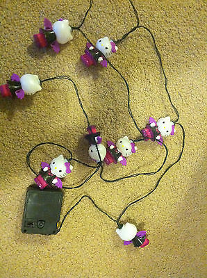 hello kitty bat string lights used