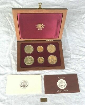 1983 1984 OLYMPIC COIN SET gold silver proof uncirculated