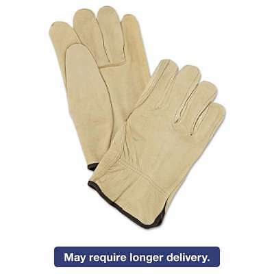 Memphis Unlined Pigskin Driver Gloves, Cream, Large, 12 Pairs 045143340033