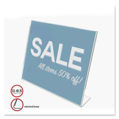 deflecto® Classic Image Slanted Desk Sign Holder, Plastic, 11 x 8 079916667010