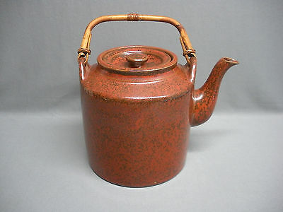 Vintage 1970's Designers Taylor and Ng Large Tea Pot with Bamboo Handles Signed