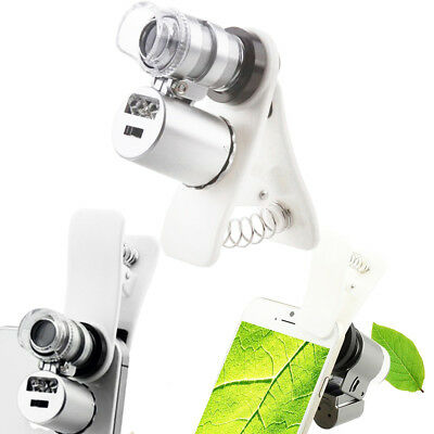 60X Optical Zoom Camera Clip Telescope Microscope Magnifier Lens for Cell Phone