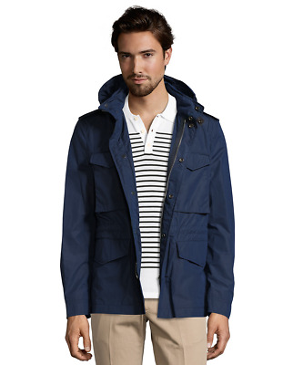 NWT 100% Auth Burberry Brit Brettson Field Men's Jacket in Navy; Large $695