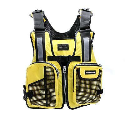 Jacket Kayak Fishing Life Aid Sailing Boat Buoyancy Vest Camouflage - Yellow