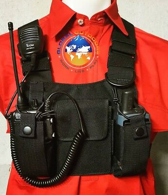 UHF Radio Holster Radio Chest Harness Universal