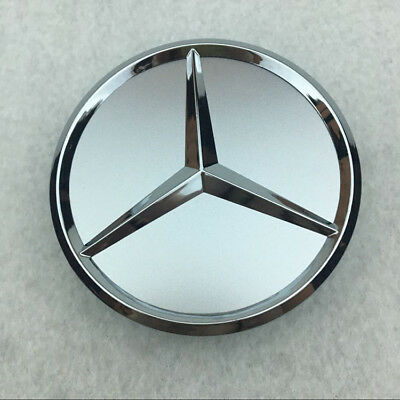 4 X WHEEL CENTRE HUB CAPS 75mm Cover Badge Emblem MatteSilver Fits:MERCEDES BENZ