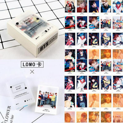 Kpop BTS Lomo Card BANGTAN BOYS SUGA J-HOPE JIMIN HD Polaroid Photo 45pcs/Set