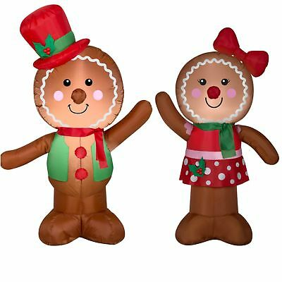 Gingerbread man inflatable christmas airblown winter wonderland outdoor decor cad - Decorations for gingerbread man ...