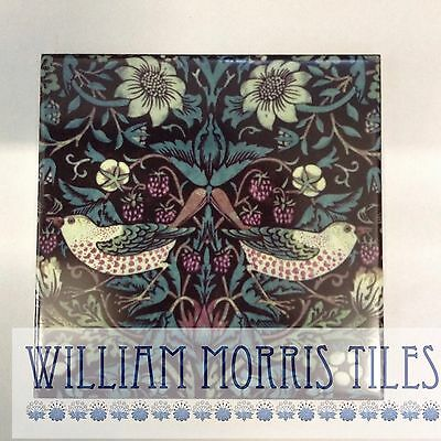 William Morris Strawberry Thief Wall Tile  For Bathroom Kitchen Or Fireplace