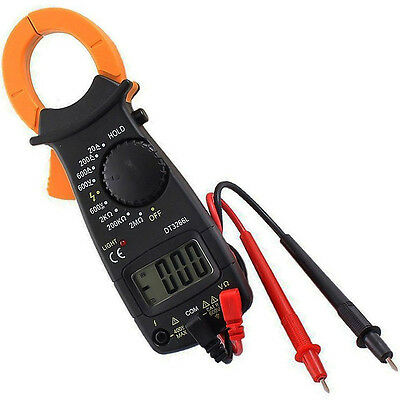 AC DC Voltage LCD Digital Clamp Multimeter Electronic Buzzer Tester Meter TMPG