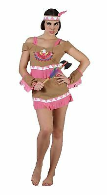 Womens Dancing Squaw Outfit Ladies Native American Indian Tiger Lily Eagle Dress