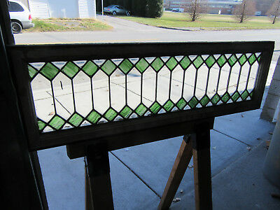 ~ ANTIQUE STAINED GLASS TRANSOM WINDOW ~ 48 x 15 ~ ARCHITECTURAL SALVAGE