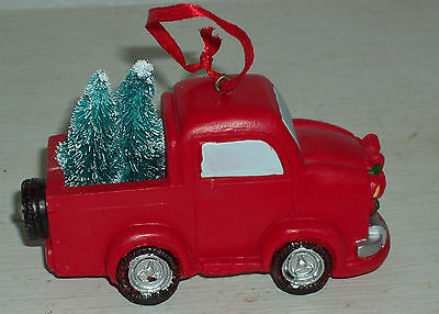Car with Tree Christmas tree ornament, Avon