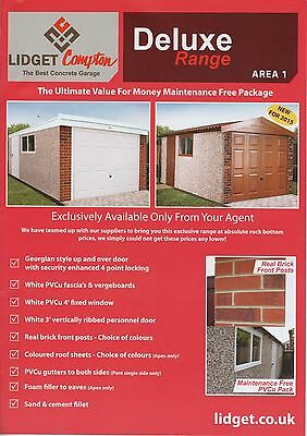 """Apex  Deluxe 20Ft3"""" X 8Ft6"""" Deluxe Apex Concrete Sectional Garage"""