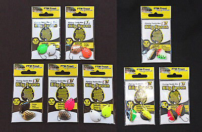 Fishing Tackle Max FTM Bilg Spoon Forellenblinker Plättchen Blinker - 1,7g 2 Stk
