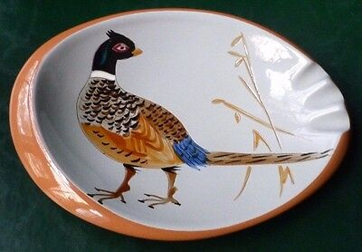 Retro Vintage Stangl Oval Pheasant Game Bird Ashtray, #3926C Mint Condition