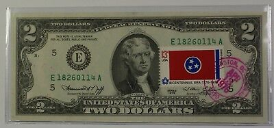 First Day of Issue Cancelled 1976 $2 Two Dollar Note Washington D.C. (55)
