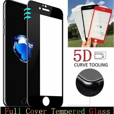 3D Full Cover Curved Tempered Glass Screen Protector Film Cover For iPhone X 8 7