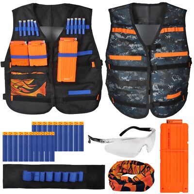 Kids Tactical Vest Kit for Nerf N-strike Elite Series Blasters Clip, Mask, Darts