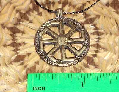 Ancient Greek-Scythian Bronze Kolovrat Wheel-Gates / Replica / Amulet-Symbol #2