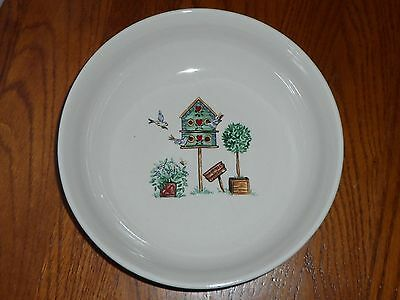 "Thomson Pottery China Dinnerware Birdhouse Pattern 9 1/8"" Vegetable Serving Bowl"