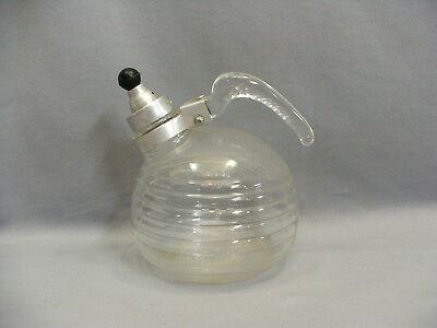 Vintage Glasbake Glass 10 Cup Art Deco Beehive #104 Whistling Teapot Kettle.