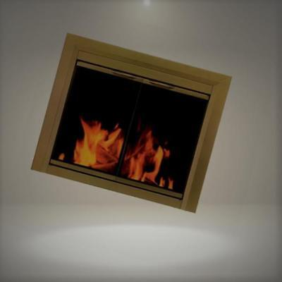 Pleasant Hearth CA-3202 Cahill Fireplace Glass Door, Antique Brass, Large