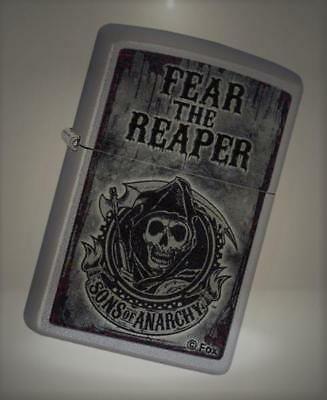 Zippo Sons of Anarchy Fear the Reaper Pocket Lighter, Satin Chrome