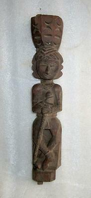 Vintage Old Rare Hand Carved Wooden Unique Traditional Indian Welcome Man Figure