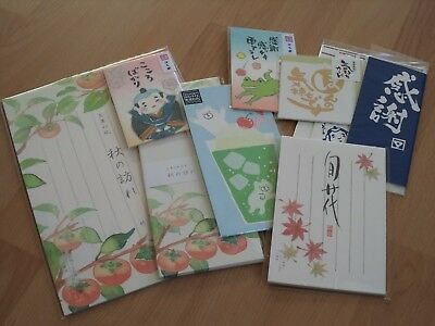 8-tlg. Washi Briefpapier Set NEU Original Japan selten rar