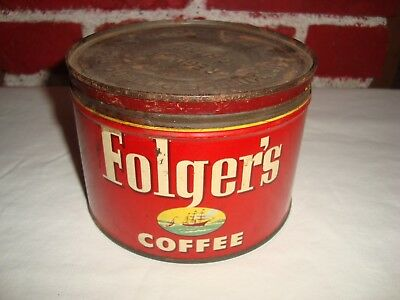 1952 Folgers Coffee Can J.a.f.&co.