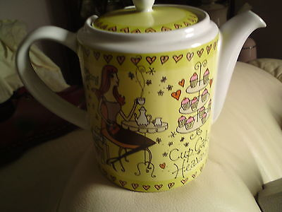 Whittard 'Afternoon Tea - Cup Cake Heaven' Teapot,VGC, FREE-MAILING.REDUCED.