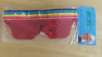 Vintage rainbow headband, band glasses, beach, goofy, pride sunglasses Halloween