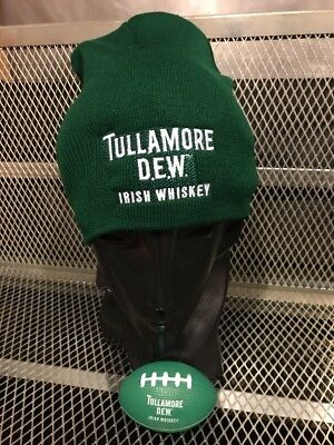 TULLAMORE DEW IRISH WHISKEY NEW Knit Beanie Skull HAT Rugby Football Stressball