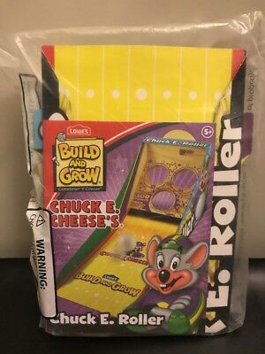 Lowe's Build and Grow Chuck E. Cheese Chuck E. Roller Game ~ New