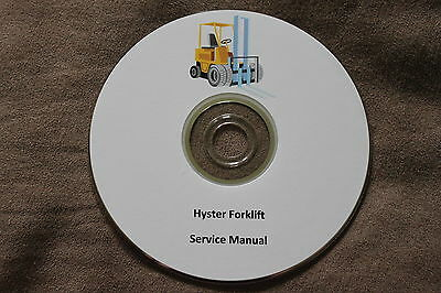 Hyster Forklift Electric, Gas, LP and Diesel Service Manuals 32 Total on DVD