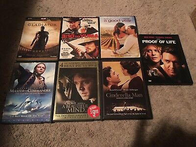 Lot Of 7 Russell Crowe Dvds