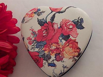 Floral Heart Box Metal Storage Container Vintage Potpourri Press Home Decor Gift