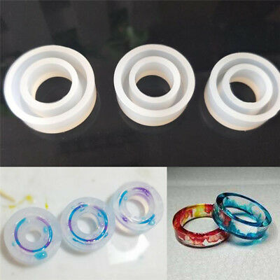 Silicone Ring Mold Making Resin Casting Jewelry Rings Mould Hand DIY Craft ToolG