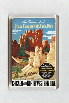 Vintage Travel Poster Fridge Magnet - Bryce Canyon Utah