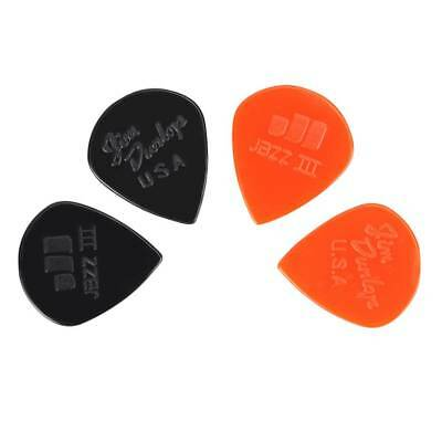 20pcs Nylon Jazz III Guitar Picks Sharp Tip 1.38mm/0.05in Tin for Dunlop