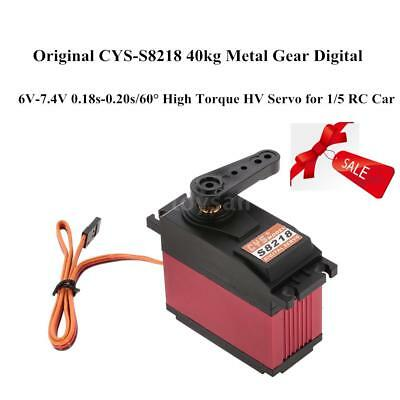 CYS-S8218 40kg Metal Gear Digital High Torque HV Servo FüR 1/5 RC Auto G8Z4