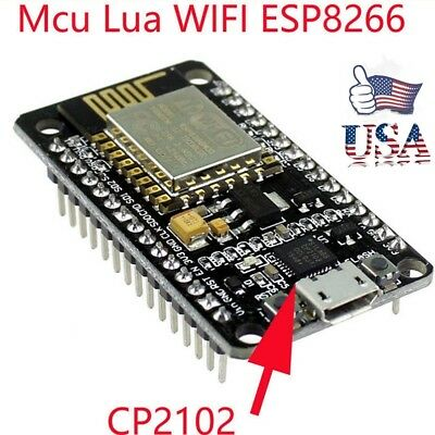 US NodeMcu Lua WIFI Internet Things development Board Base ESP8266 CP2102 Module