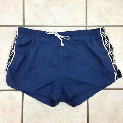 Vintage 70s/80s Umbro International Cotton Blend Soccer Shorts - Sz 34 - USA