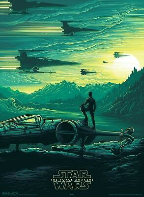 STAR WARS THE FORCE AWAKENS AMC 2 OF 4 - 9.5x13 INCH PROMO MOVIE POSTER